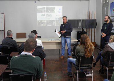 Boas vindas dadas pelo Sr. Renato Vieira, Gerente da Epagri – Estação Experimental de Caçador. Foto: Edilaine Dick.