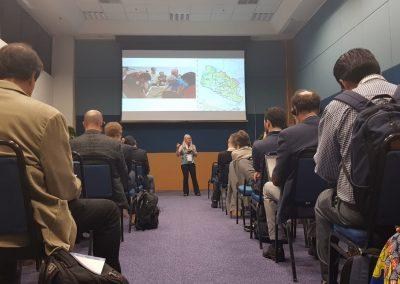 Miriam Prochnow apresenta as principais lições aprendidas com o LUD no Alto Vale do Itajaí (SC). Foto: Hevelyn Sato.