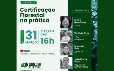Fórum Florestal Paraná e Santa Catarina promove live sobre certificação florestal