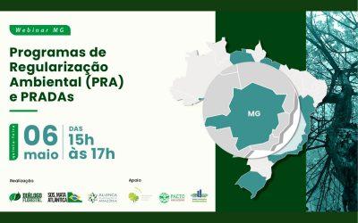 Webinar discute implantação do Programa de Regularização Ambiental em Minas Gerais