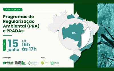 Webinar avalia a evolução do Programa de Regularização Ambiental da Bahia