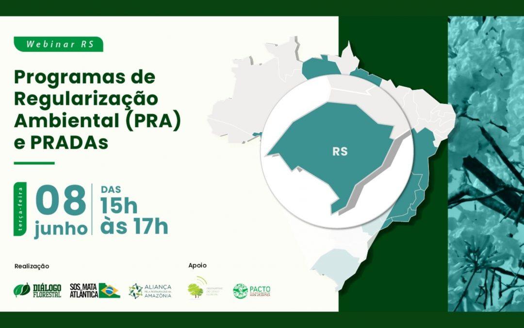 Série de webinars do Diálogo Florestal chega ao Rio Grande do Sul