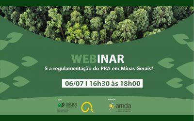 Fórum Florestal Mineiro apoia webinar sobre regulamentação do PRA
